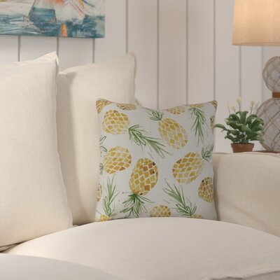 CostiganTossed Pineapples Throw Pillow Size: 16 H x 16 W x 3 D