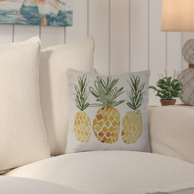 Thirlby 3 Pineapples Outdoor Throw Pillow Size: 18 H x 18 W x 3 D