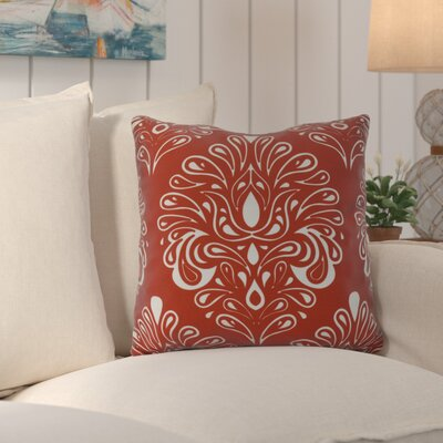 Hardouin Outdoor Throw Pillow Size: 16 H x 16 W x 3 D, Color: Orange