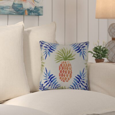 Costigan Pineapple and Spike Throw Pillow Size: 16 H x 16 W x 3 D, Color: Blue