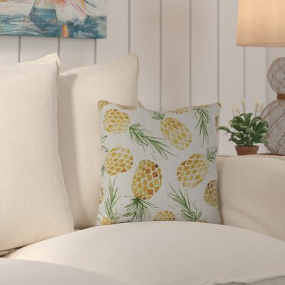 Thirlby Tossed Pineapples Outdoor Throw Pillow Size: 16 H x 16 W x 3 D
