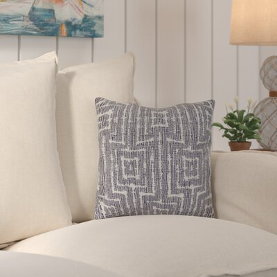 Thirlby Woven Tiki Geometric Print Throw Pillow Size: 18 H x 18 W x 3 D, Color: Purple