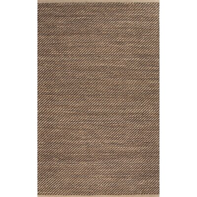Moncayo Taupe/Brown Solid Area Rug Rug Size: 36 x 56