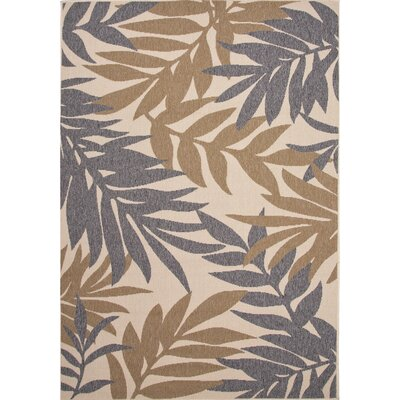 Novoa Gray/Taupe Indoor/Outdoor Area Rug Rug Size: 4 x 53
