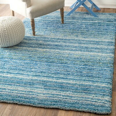 Acklins Hand-Tufted Sky Blue Area Rug Rug Size: Rectangle 4 x 6