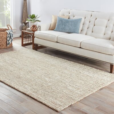One-of-a-Kind Quintana Hand-Woven Light Brown Area Rug Rug Size: Rectangle 5 x 8