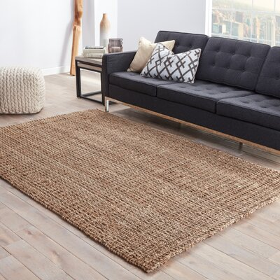 Quintana Hand-Woven Beige Area Rug Rug Size: Rectangle 5 x 8