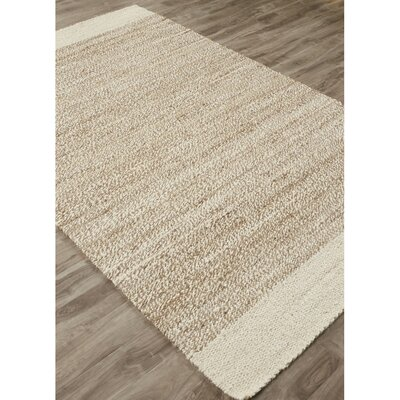 Raposa Ivory/Natural Area Rug Rug Size: Rectangle 5 x 8