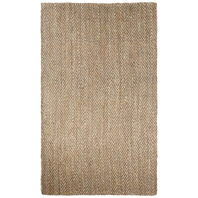 Raposa Brown/Natural Area Rug Rug Size: 9 x 12