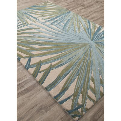 Arsos Hand-Tufted Blue/Green Area Rug Rug Size: 5 x 8