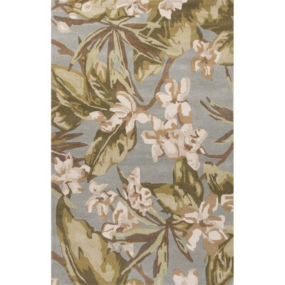 Arsos Hand-Tufted Green/Ivory Area Rug Rug Size: Rectangle 8 x 11