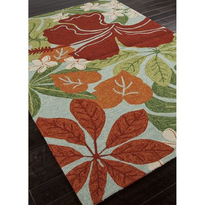 Artemi Hand Hooked Green/Red Indoor/Outdoor Area Rug