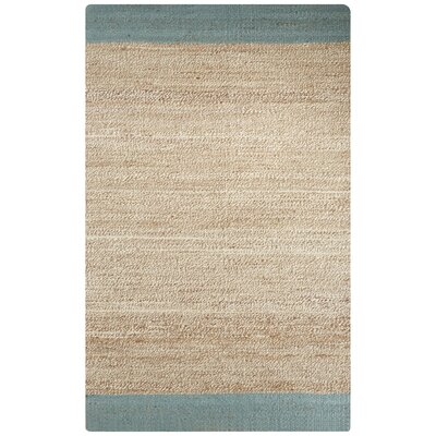 Raposa Blue/Natural Area Rug Rug Size: 5 x 8