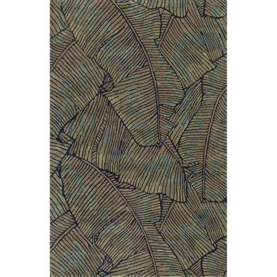 Arsos Green Wool Hand Tufted Area Rug Rug Size: 5 x 8