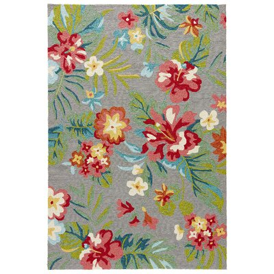 Artemi Claret Red Indoor/Outdoor Area Rug Rug Size: 76 x 96