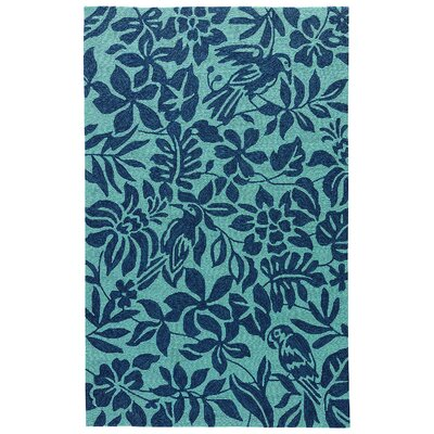 Artemi Sea Green/Navy Indoor/Outdoor Area Rug Rug Size: 2 x 3