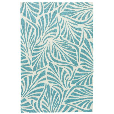 Artemi Teal/Cloud Cream Indoor/Outdoor Area Rug Rug Size: 76 x 96