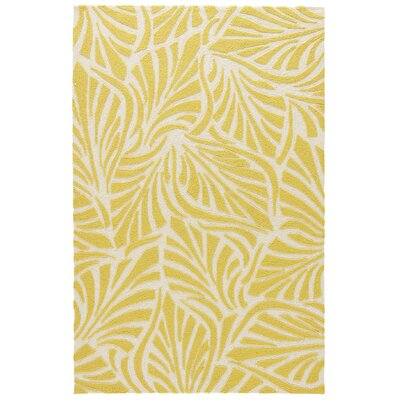 Artemi Yellow/Cloud Cream Indoor/Outdoor Area Rug Rug Size: 76 x 96