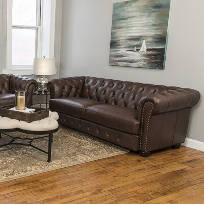 Laila Leather Chesterfield Sofa