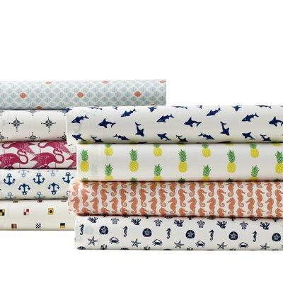 Pamuklu Pineapples 200 Thread Count 100% Cotton Sheet Set Size: Twin