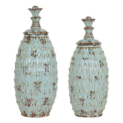 2 Piece Floor Vase Set