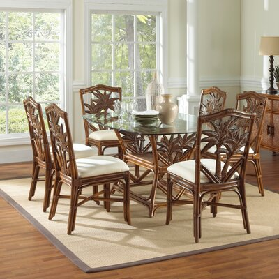 Cypress 7 Piece Dining Set Fabric: Palms 2 Pineapple