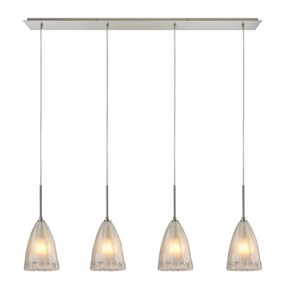 Mejorado 4-Light Kitchen Island Pendant Finish: Satin Nickel
