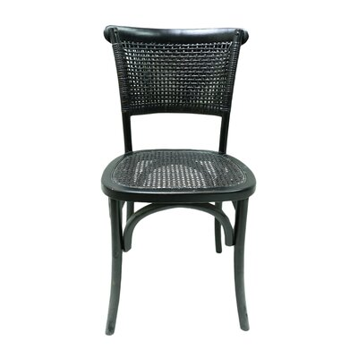 Isle Royale Dining Side Chair Color: Black