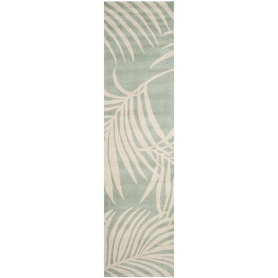 Palmnue Hand-Hooked Beige/Gray Area Rug Rug Size: Runner 23 x 9