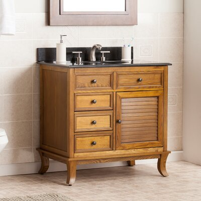 Thompson 33.5 Single Bathroom Vanity Set with Granite Top