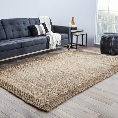 Raposa Ivory/Brown Area Rug Rug Size: Rectangle 4 x 6