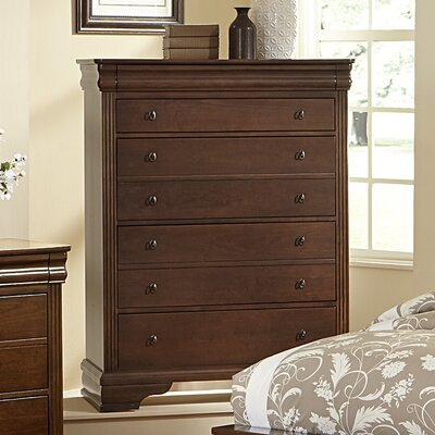 Hewitt 5 Drawer Chest Color: French Cherry
