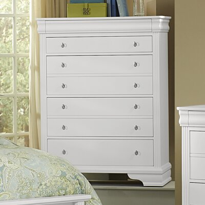 Hewitt 5 Drawer Chest Color: Soft White