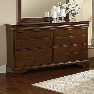 Hewitt 6 Drawer Dresser Color: French Cherry