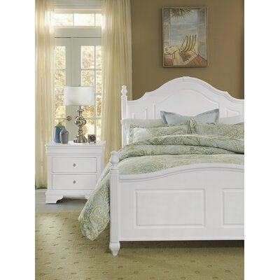 Hewitt Wood Headboard with Rounded Tops Size: Queen, Finish: Soft White