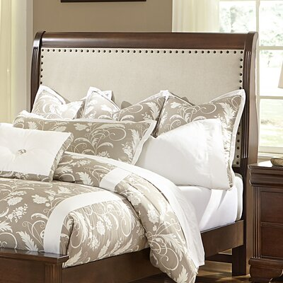 Hewitt Upholstered Sleigh Headboard Size: Queen, Color: Zinc