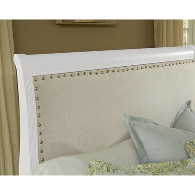 Arden Upholstered Headboard Size: King, Finish: Soft White