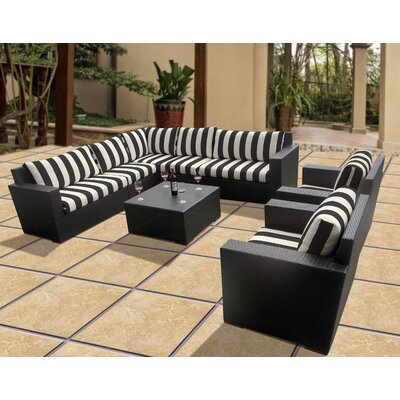 Scholtz 8 Piece Deep Seating Group with Cushions Fabric: Cabana Classic
