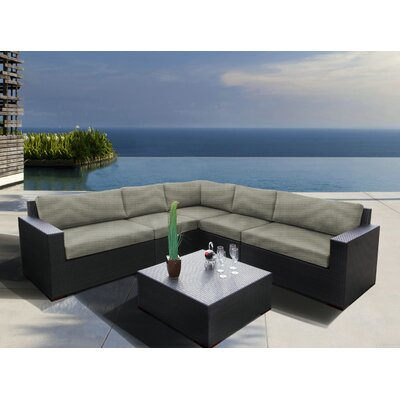 Scholtz 6 Piece Sectional Seating Group with Cushions Fabric: Spectrum Dove