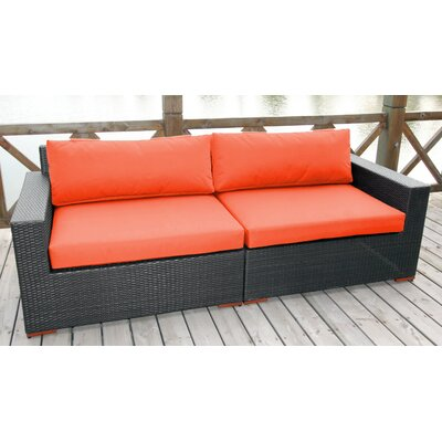 Scholtz Sofa with Cushions Fabric: Canvas Melon