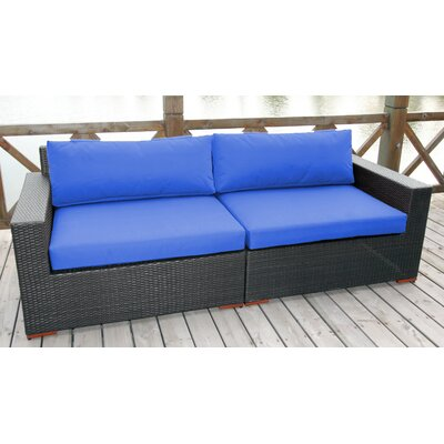 Scholtz Sofa with Cushions Fabric: Canvas True Blue