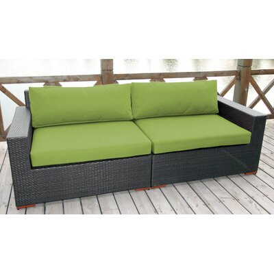 Scholtz Sofa with Cushions Fabric: Canvas Ginkgo
