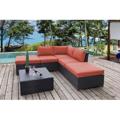 Scholtz 6 Piece Deep Seating Group with Cushions Fabric: Canvas Melon