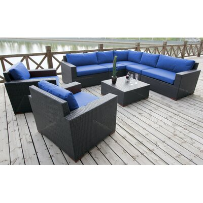 Scholtz 8 Piece Deep Seating Group with Cushions Fabric: Canvas True Blue