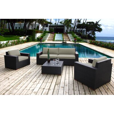 Scholtz 5 Piece Deep Seating Group with Cushions Fabric: Spectrum Dove