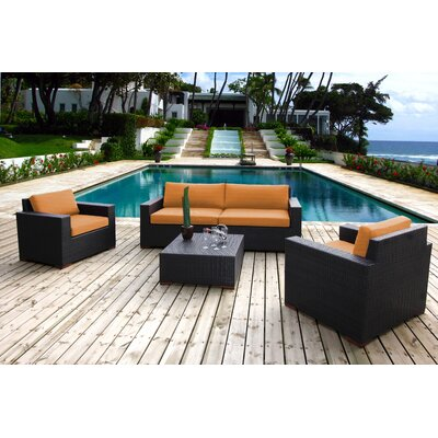 Scholtz 5 Piece Deep Seating Group with Cushions Fabric: Canvas Tuscan