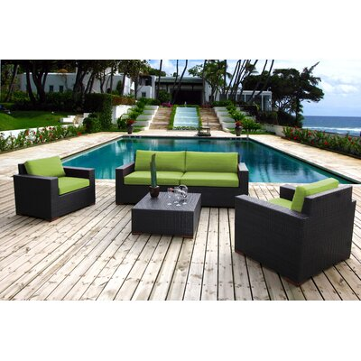Scholtz 5 Piece Deep Seating Group with Cushions Fabric: Canvas Ginkgo