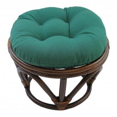 Xavier Ottoman Upholstery: Forest Green
