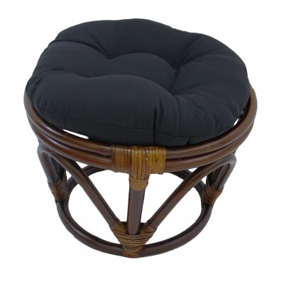 Tern Ottoman Upholstery: Black