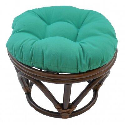 Xavier Ottoman Upholstery: Emerald
